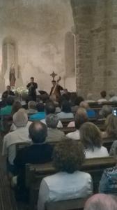 Concert de música d'època i dances amb motiu del Tricentenari, organitzat pel CEHT, dissabte 27, a la Seu d'Ègara. (F: PV)