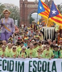 Manifestació a Barcelona contra la llei Wert