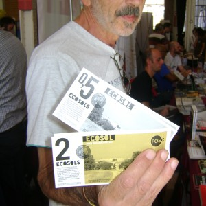 Dintre de la Fira, els intercanvis funcionaven en una nova moneda, l'ECOSOL (Foto: PV)