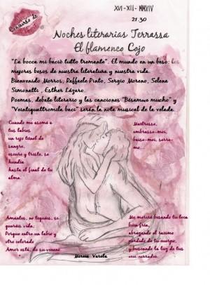 Cartell de la 6ª Nit Literària dedicada al petó