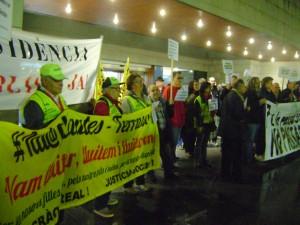 Iaioflautes en defensa de la sanitat pública. Foto: PV