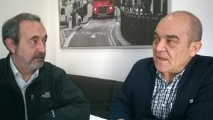Josep Ferrer i Josep Lluís Charles, membres de Iaioflautes de Terrassa. Foto: PV