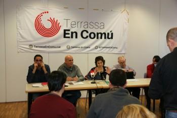 Presentació de la proposta Terrassa En Comú amb els representants de Podemos, Guanyem TRS, ICV i Procés Constituent. Foto: PV