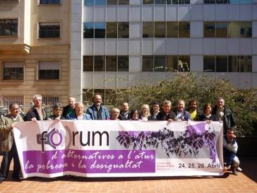 Mobilització per la presentació del Fòrum. Foto: aturatsbarcelona.org