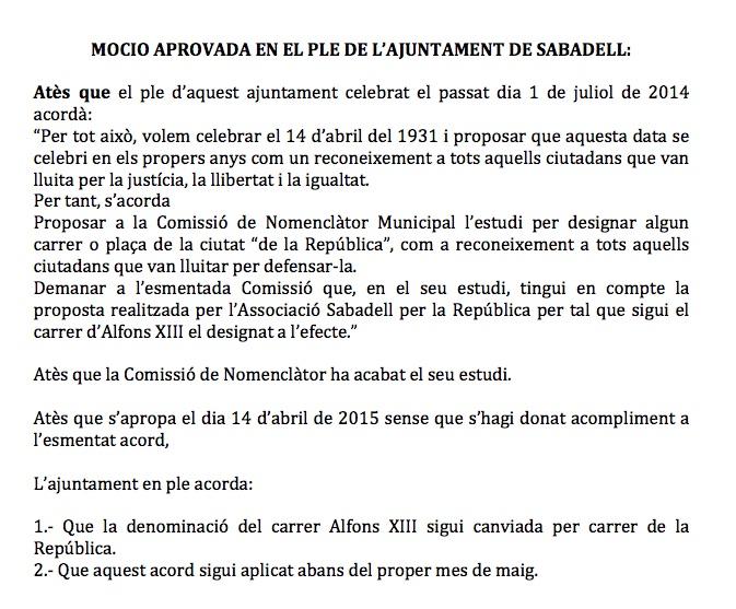Sabadell república moció
