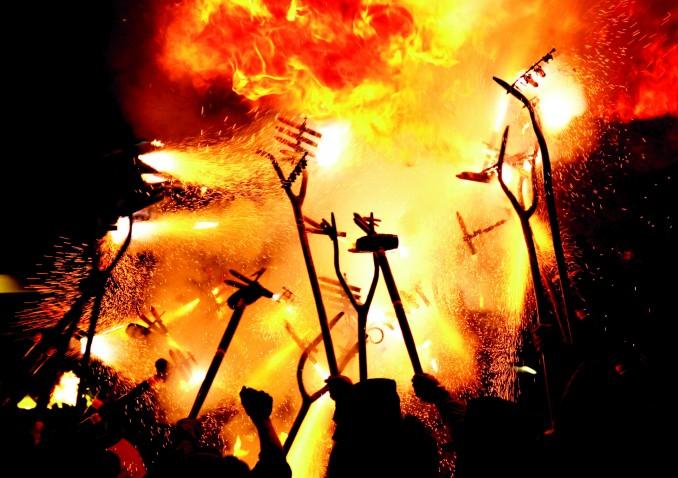 Diables de Terrassa al Raval Infernal. Foto: DiablesdeTerrassa