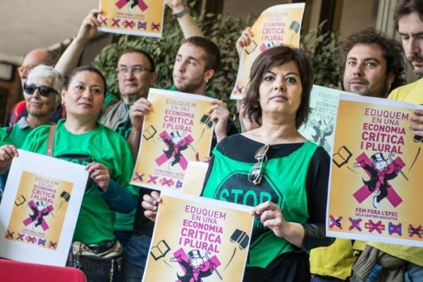 Roda de premsa de presentació del Front Social  Foto: Diari de l'Educació