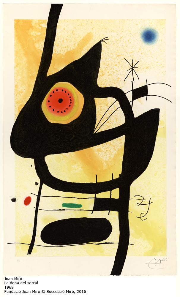 1.FJM_la_dona_del_sorral_1969, Joan Miró