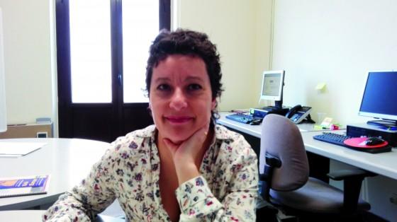 Anna Rius al despatx de TeC a l'Ajuntament. foto PV