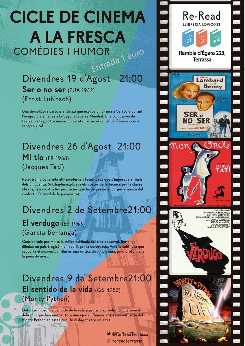 Cicle De Cinema Dhumor A La Llibreria Re Read Created By Redacci Frescare Fresca