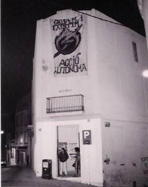 Kasal okupat l'any 1998, al carrer sant Francesc. Foto Arxiu