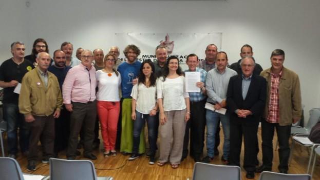 Representants d'entitats i organitzacions signants del Pacte Social per l'Aigua