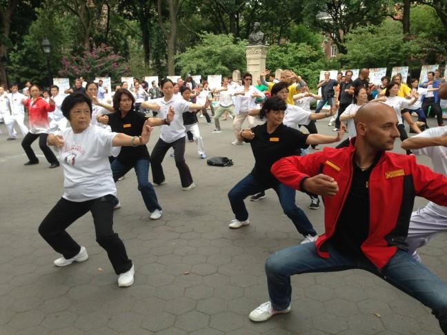 Ivan participa en un entrenament massiu a Nova York. Foto Alquimia