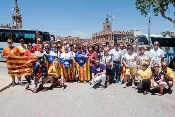 A Montjuïc, l'alegria del procés que no para. Foto ANC-TxI