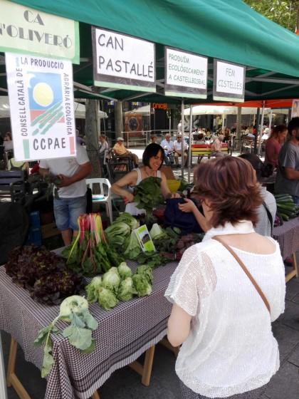 Para de ca n'Oliveró a la Fira Agroecològica celebrada a Terrassa el 28 de maig. Foto PV