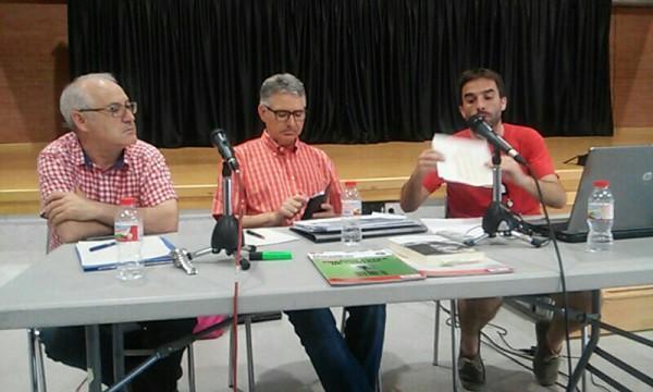 Emiliano Martínez, Domènec Martínez i Xavier Pallarès. Foto ICV