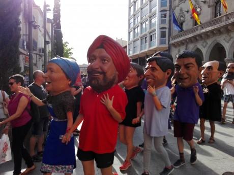 Capgrossos a la festa dels capdidats d'enguany. Foto PV