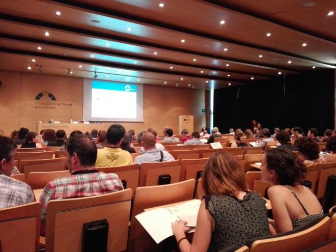 Vista de l'assemblea de la Federació de Cooperatives de Treball. Foto PV