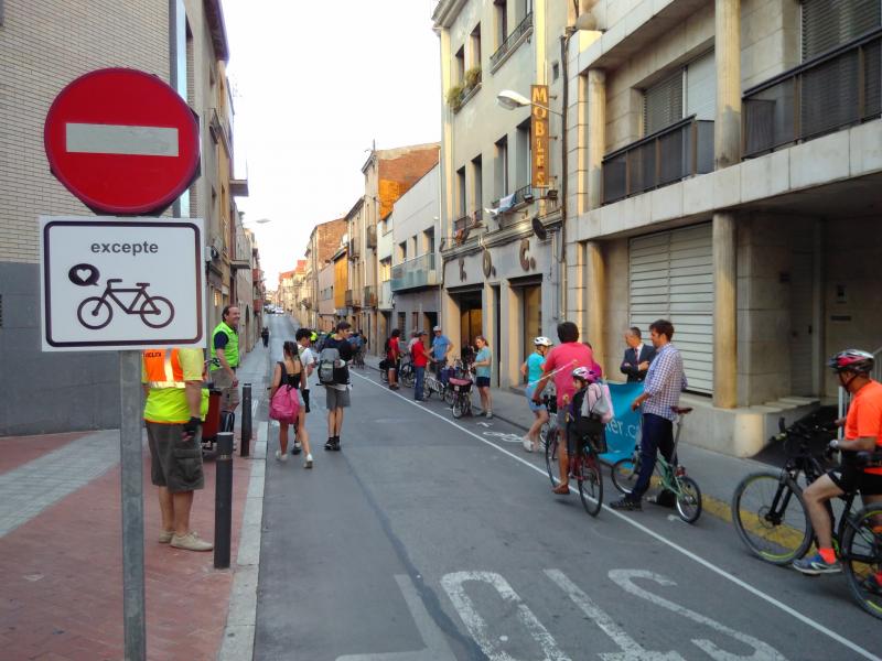 biter carril bici carrer sant quirze