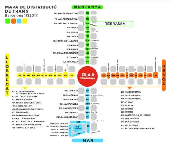 Mapa Trams Diada 2018.Molt Avancada L Organitzacio De La Diada Nacional L Anc