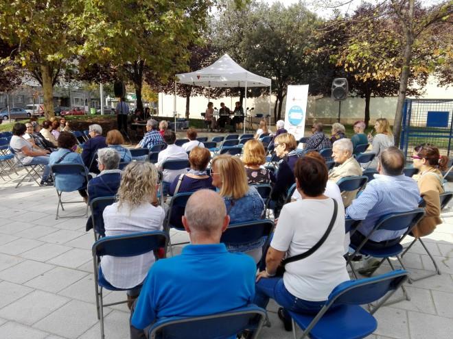 El passat 30 de setembre, a la plaça del Tint, una trobada del programa amb ràdio Terrassa en directe. Foto PV