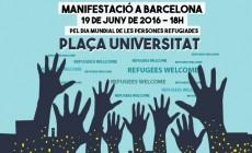 Obriu fronteres, volem acollir! MANIFEST 19J Dia mundial persones refugiades