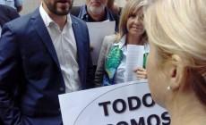 Contra la presència del conseller Comín a Terrassa, convocatòria de Plataforma Sanitat Pública, 23-S