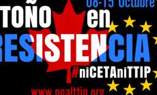 No al TTIP, Setmana d'accions del 8 al15 d'octubre, a tot l'Estat espanyol
