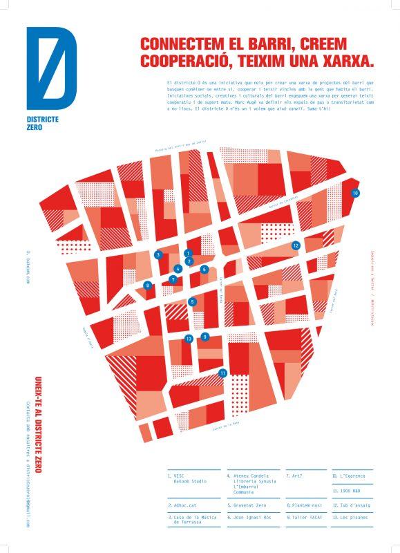Mapa del Districte Zero de Terrassa