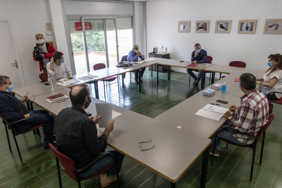 Acord unànime dels partits per un Pacte de Ciutat. Reunió de portaveus el passat 22 de maig. Foto: Ajt.Trs
