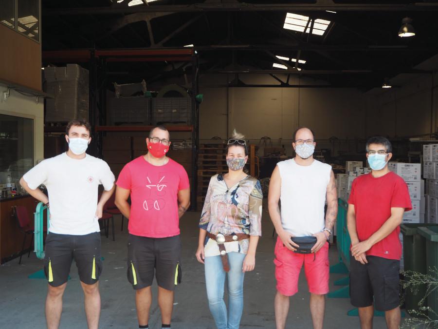 Membres de Sinergia Project, Albert, Lluís, Mireia, Isaac, Alberto