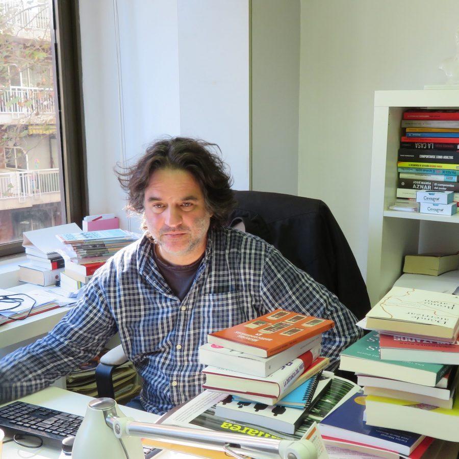 Pere Rusiñol a la redacció d'Alternativas Económicas. Foto:PV