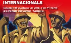 Commemoració del 82è aniversari del comiat de les Brigades Internacionals a Barcelona